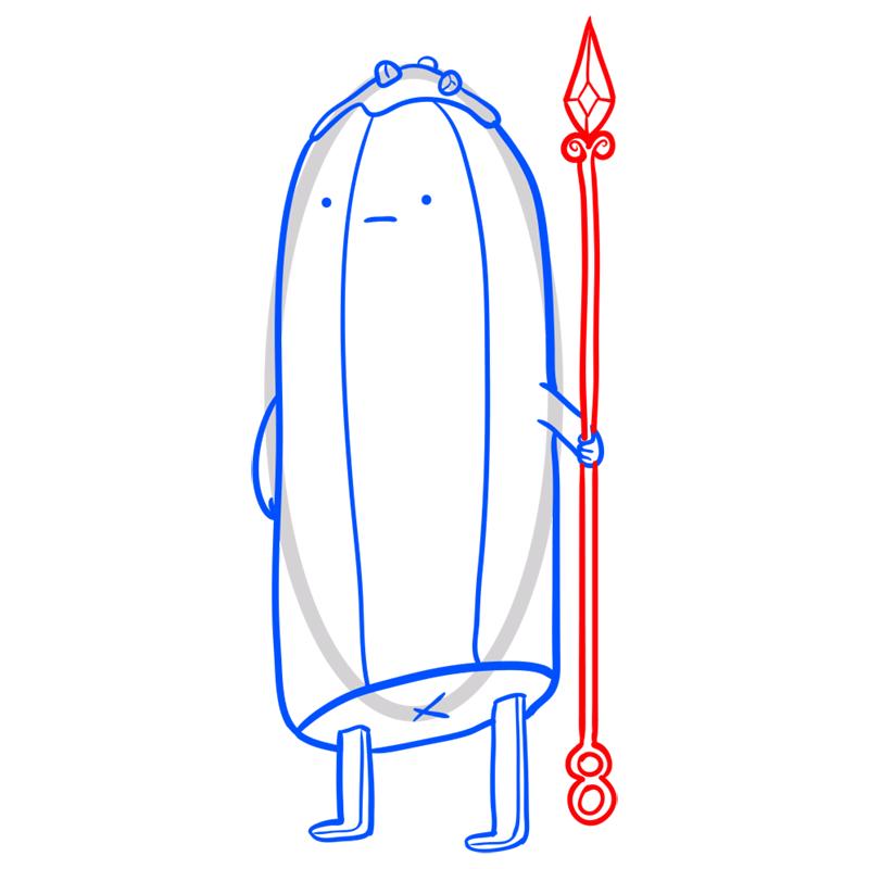 Learn easy to draw bannana guard step 07