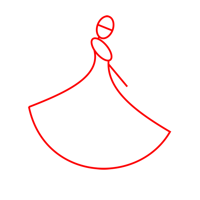 Learn easy to draw barbie in paris step 01