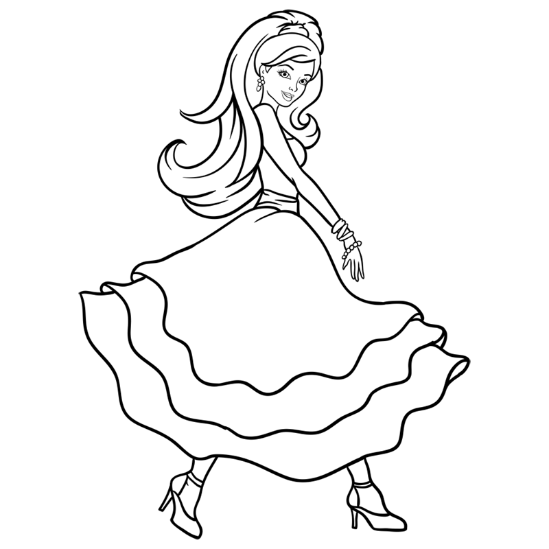 Learn easy to draw barbie in paris step 11