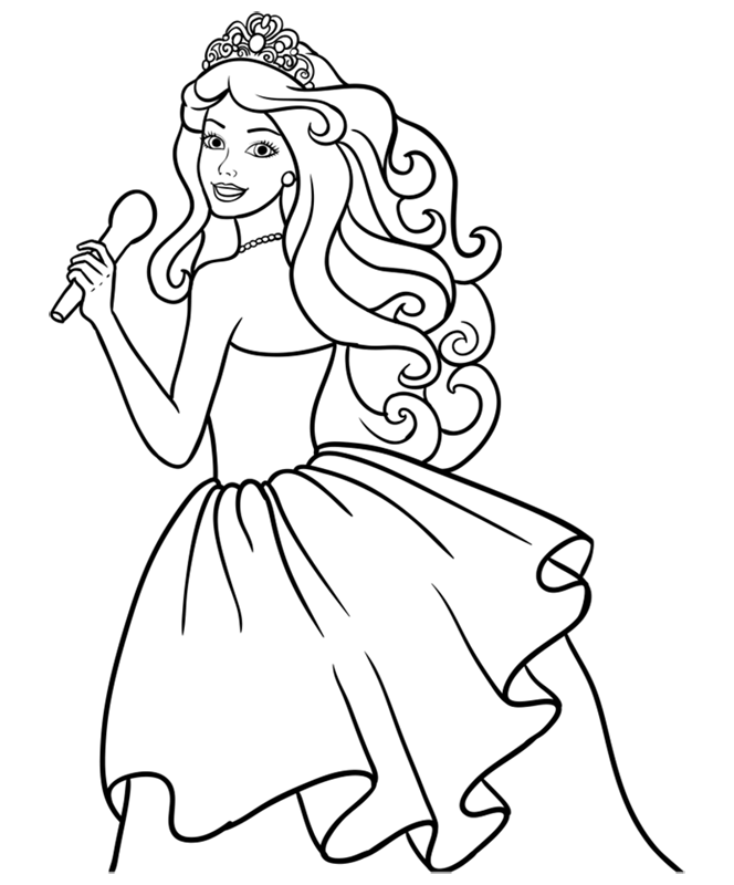 Learn easy to draw barbie singer step 11