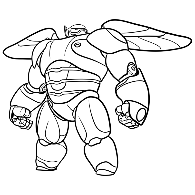 Learn easy to draw baymax in armor step 10