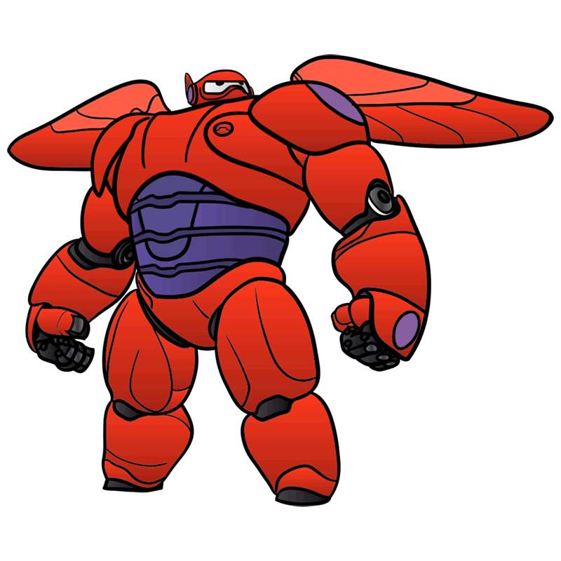 Learn easy to draw baymax in armor step 11