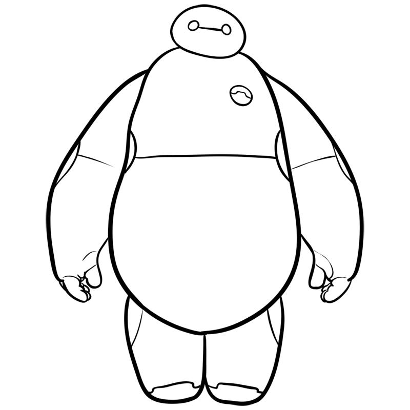 Learn easy to draw baymax step 08