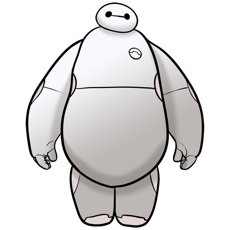 Learn easy to draw baymax step 09