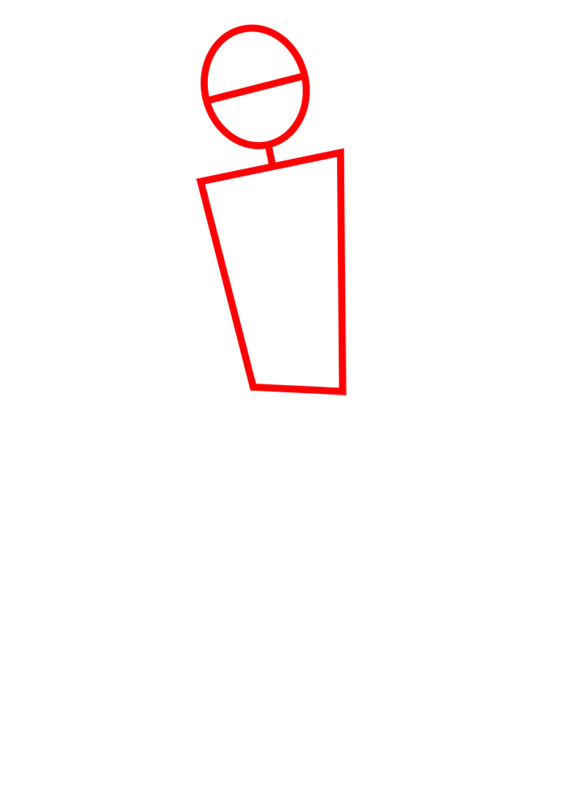 Learn easy to draw ben tennyson step 01