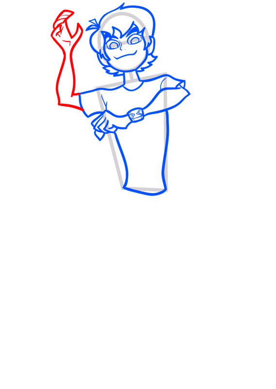 Learn easy to draw ben tennyson step 06