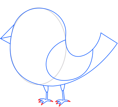 Learn easy to draw bird of paradise step 07