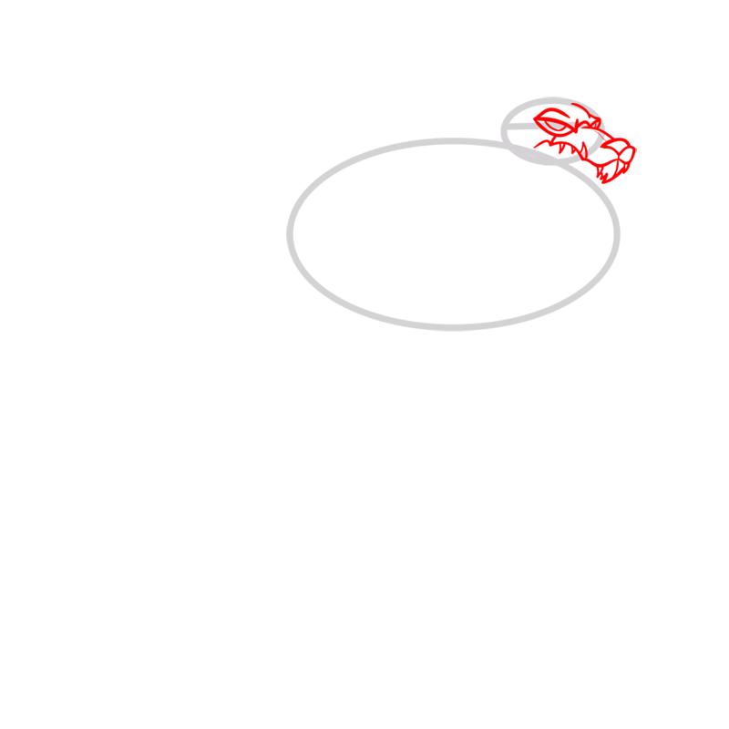 Learn easy to draw blitzwolfer step 02