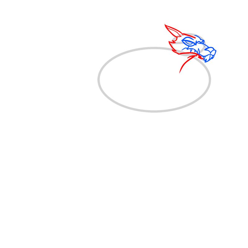 Learn easy to draw blitzwolfer step 03