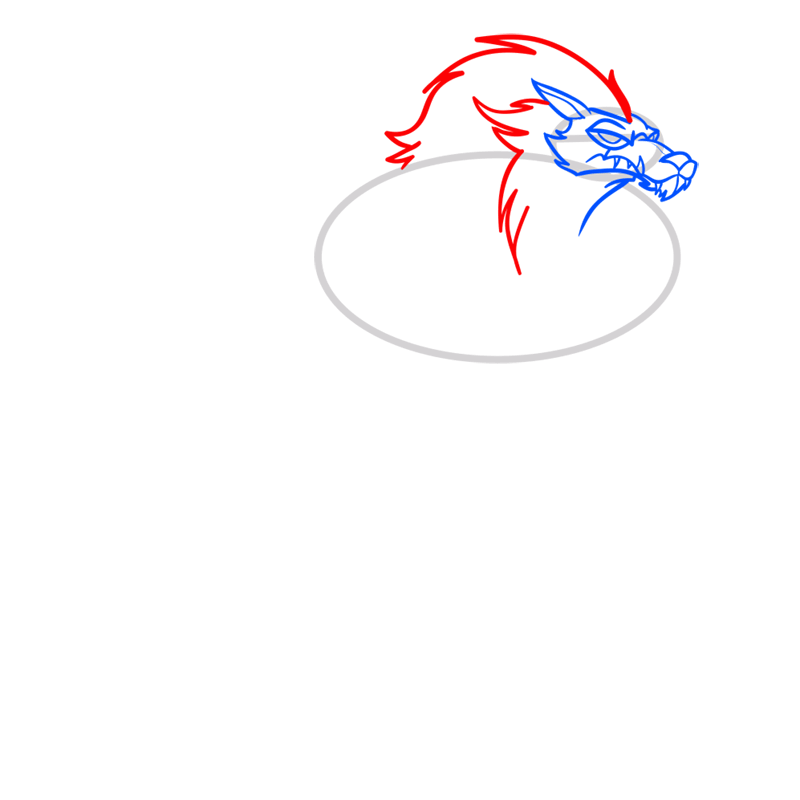 Learn easy to draw blitzwolfer step 04