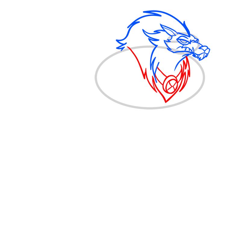 Learn easy to draw blitzwolfer step 05