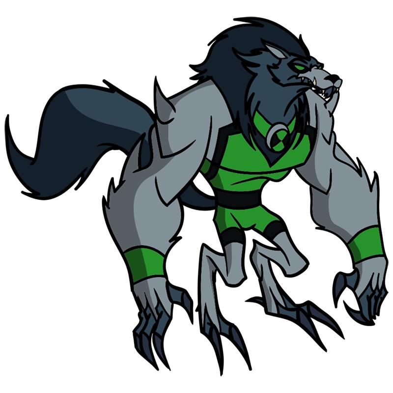 Learn easy to draw blitzwolfer step 13