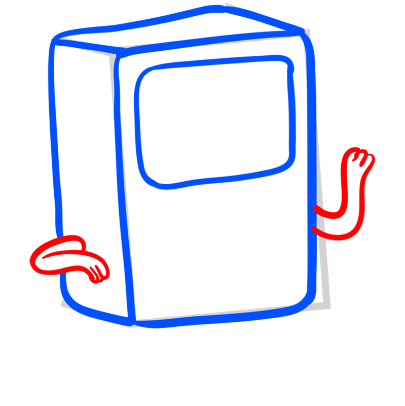 Learn easy to draw bmo step 05