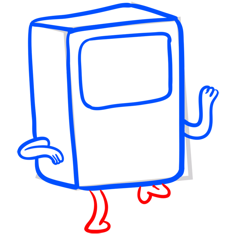 Learn easy to draw bmo step 06