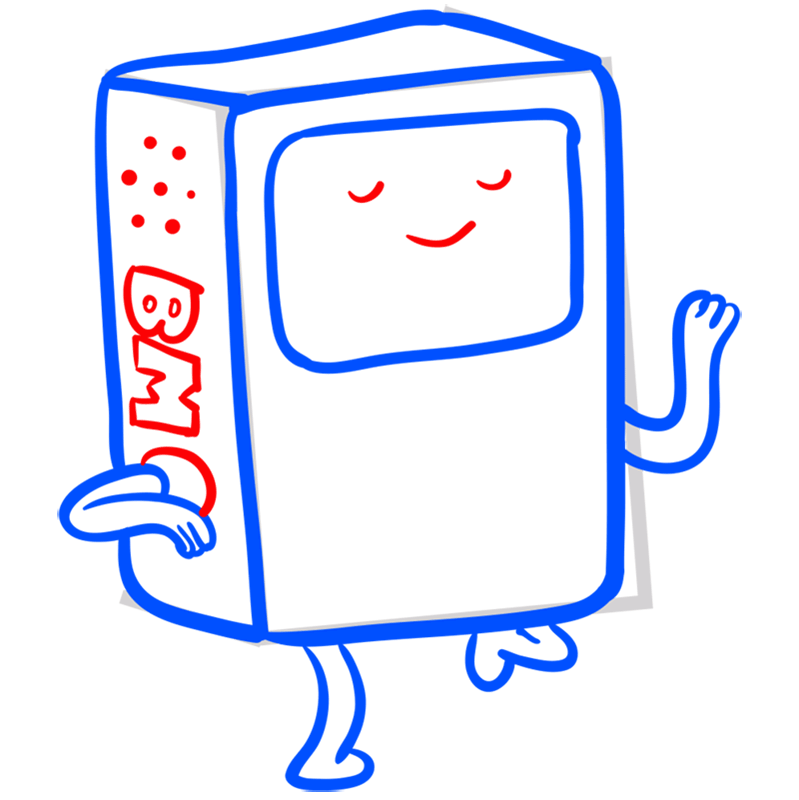 Learn easy to draw bmo step 07