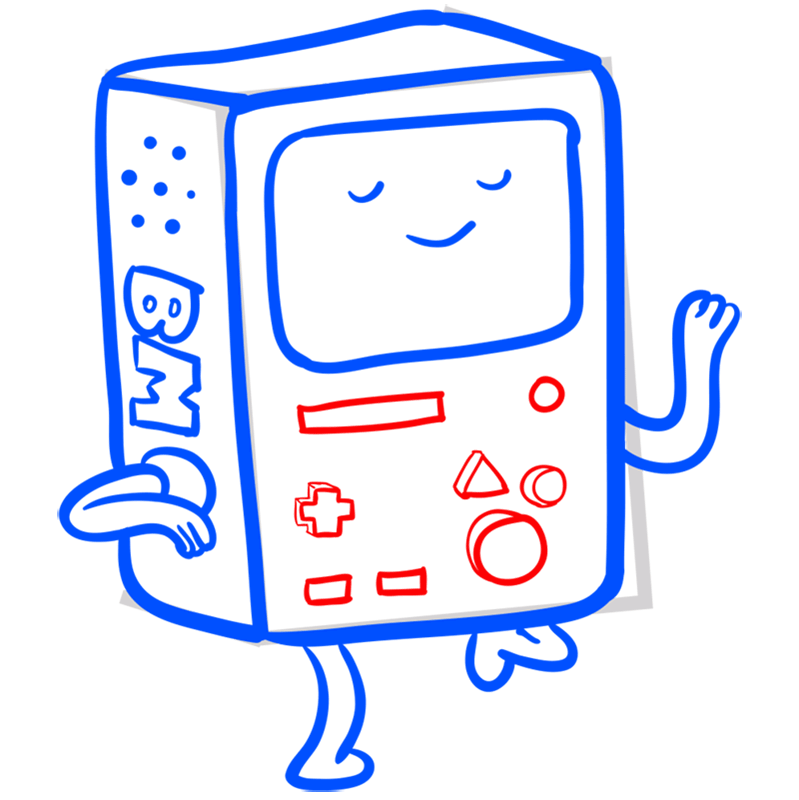 Learn easy to draw bmo step 08