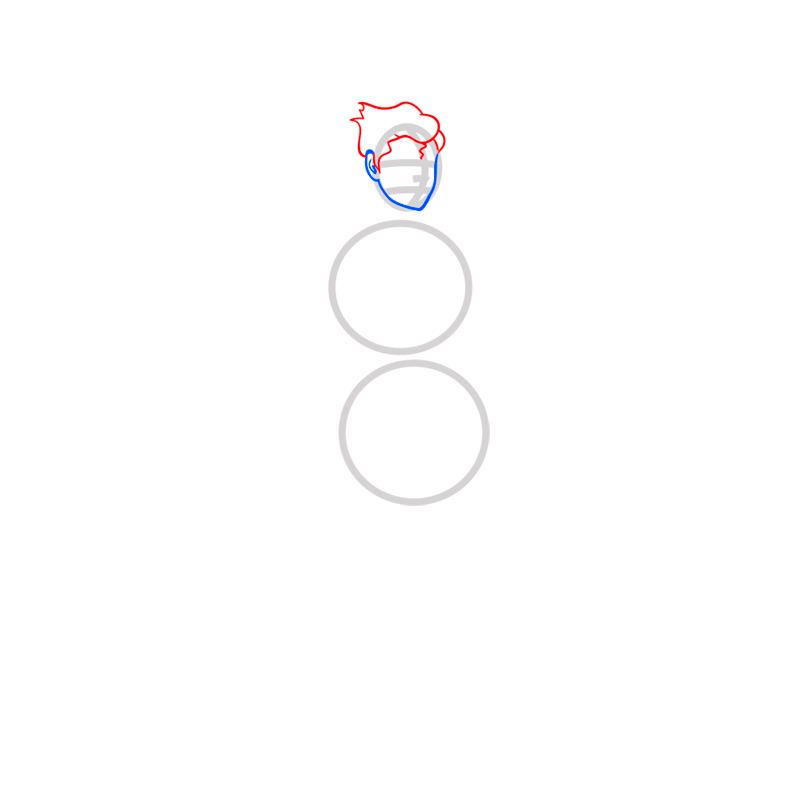 Learn easy to draw bolin step 03