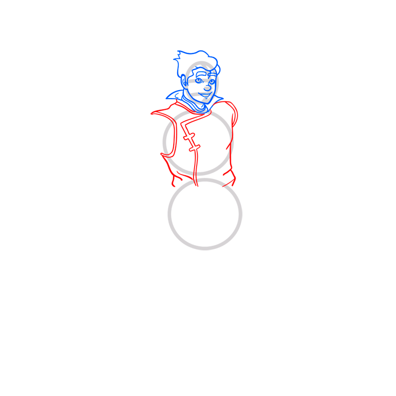 Learn easy to draw bolin step 06