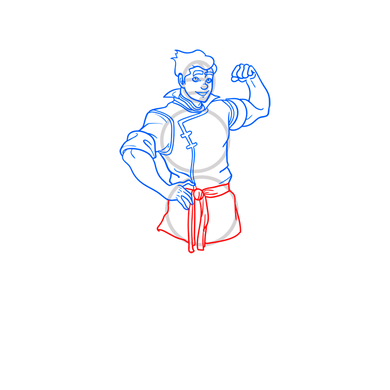 Learn easy to draw bolin step 09
