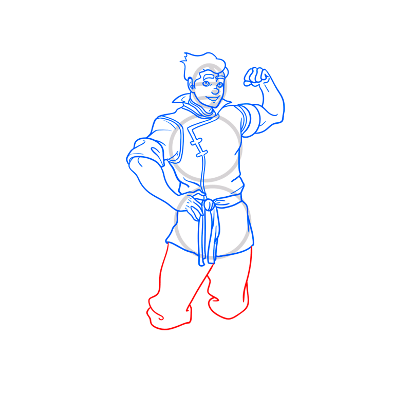 Learn easy to draw bolin step 10