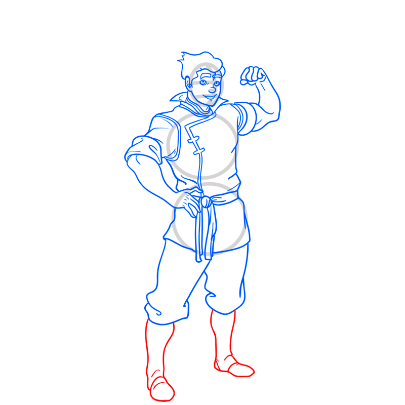 Learn easy to draw bolin step 11