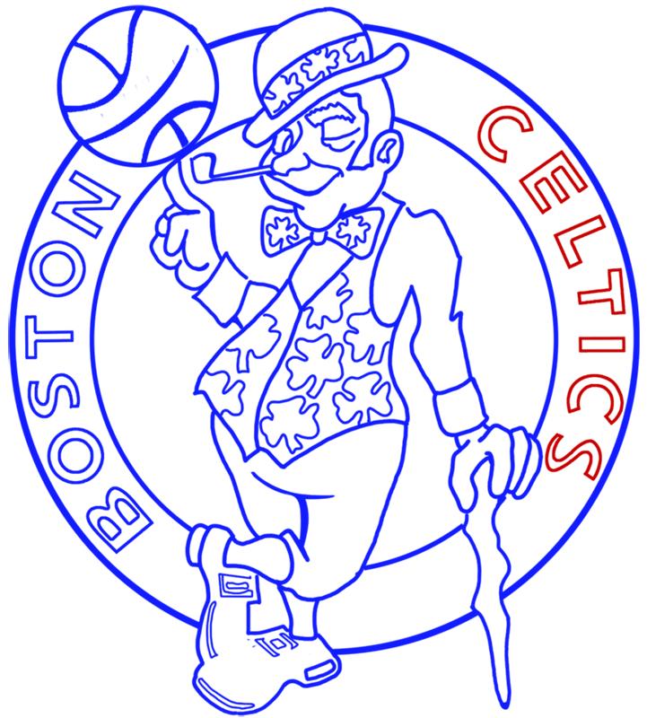 Learn easy to draw boston celtics step 13