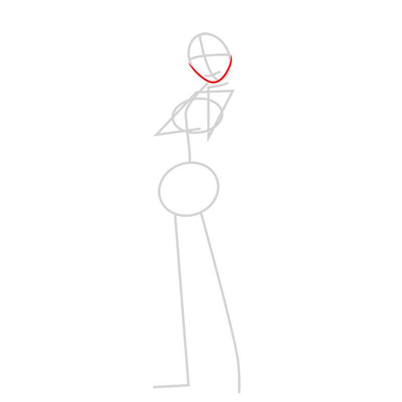 Learn easy to draw cass hamada step 02