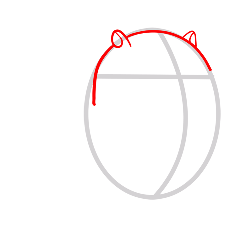 Learn easy to draw cat cake step 02