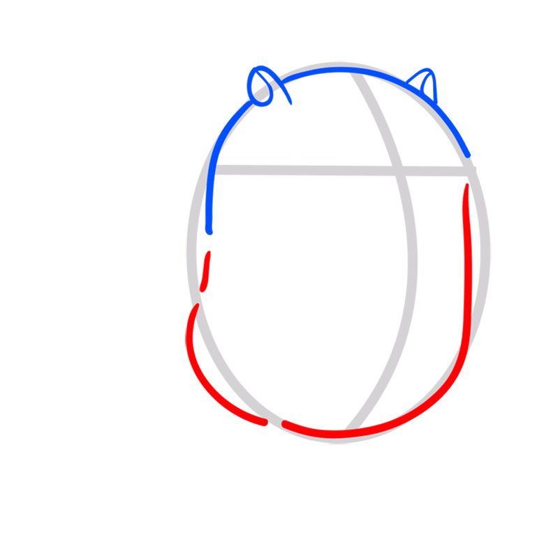 Learn easy to draw cat cake step 03