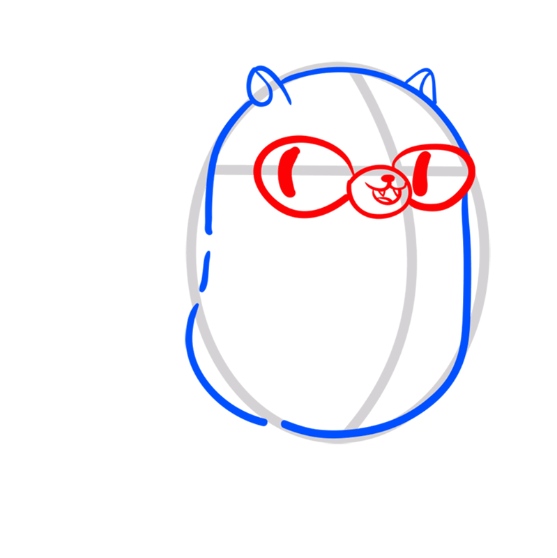 Learn easy to draw cat cake step 04