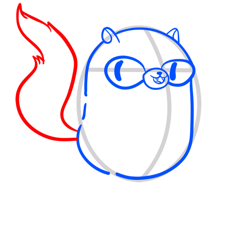 Learn easy to draw cat cake step 05