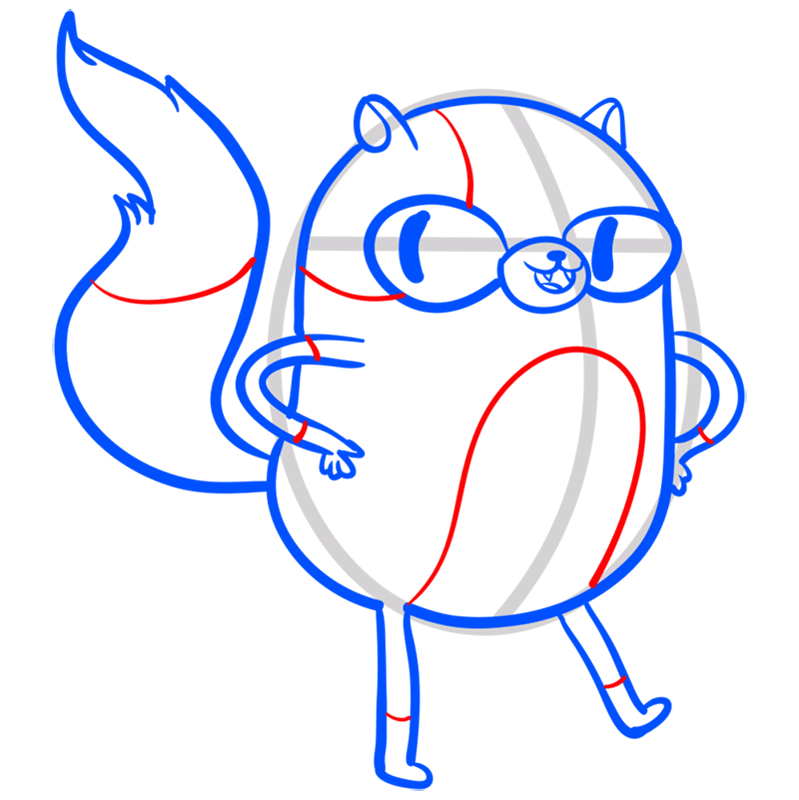 Learn easy to draw cat cake step 08