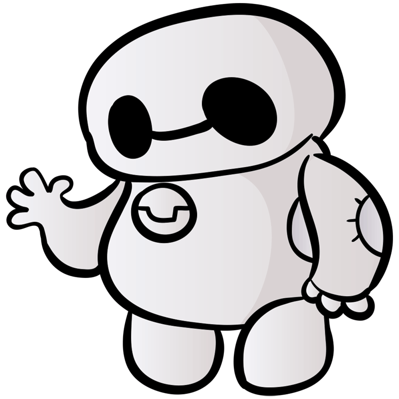 Learn easy to draw chibi baymax step 00