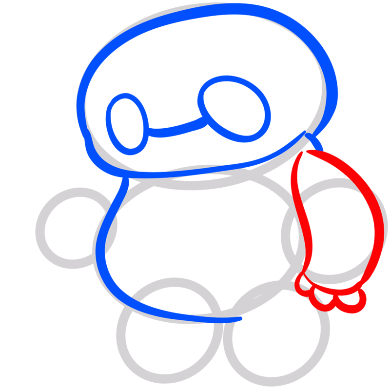 Learn easy to draw chibi baymax step 05