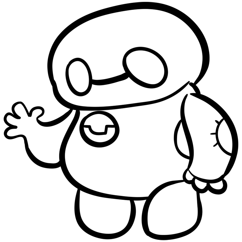 Learn easy to draw chibi baymax step 09