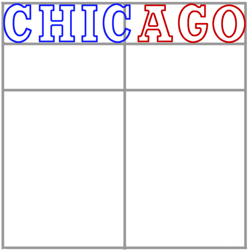 Learn easy to draw chicago bulls step 03