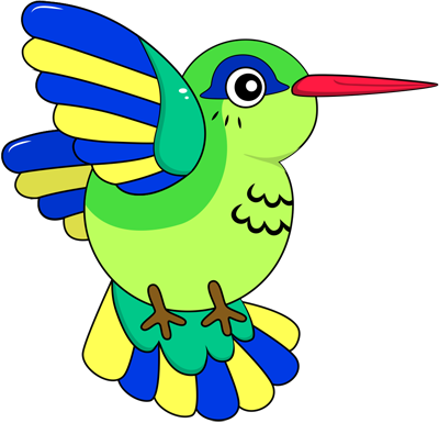 Learn easy to draw colibri step 00