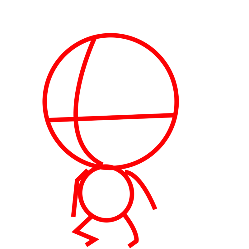 Learn easy to draw coloss chibi step 01