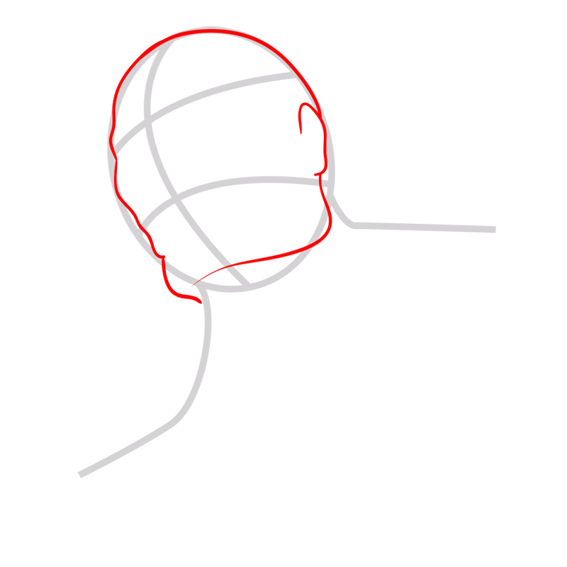 Learn easy to draw colossal titan step 02