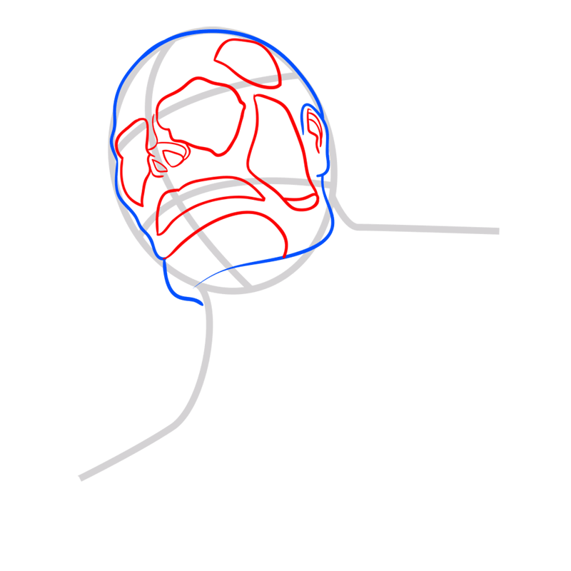 Learn easy to draw colossal titan step 03