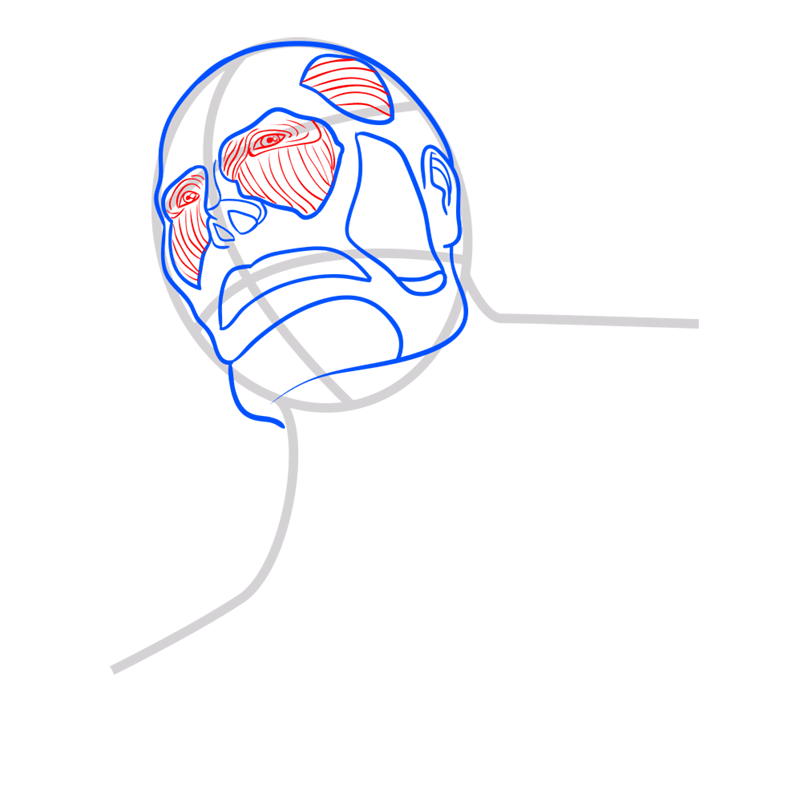 Learn easy to draw colossal titan step 04