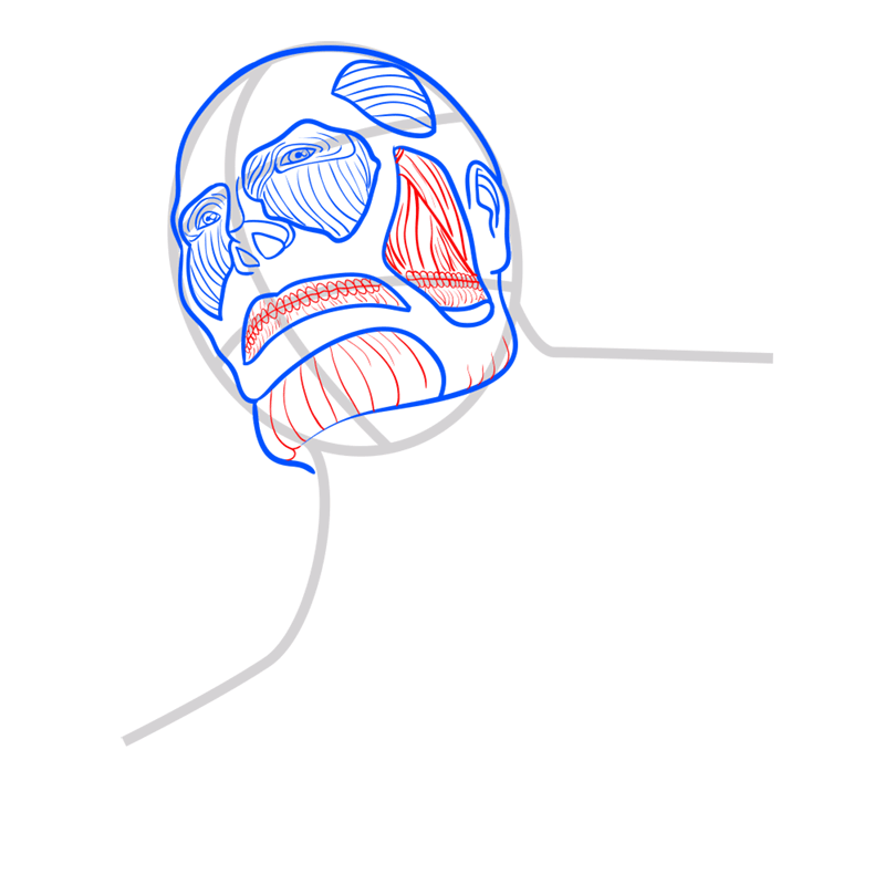 Learn easy to draw colossal titan step 05