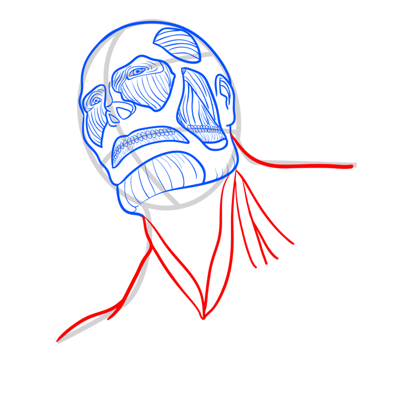Learn easy to draw colossal titan step 06