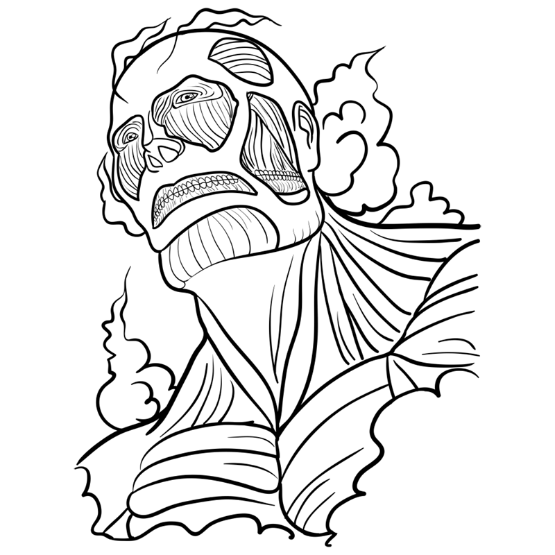 Learn easy to draw colossal titan step 10
