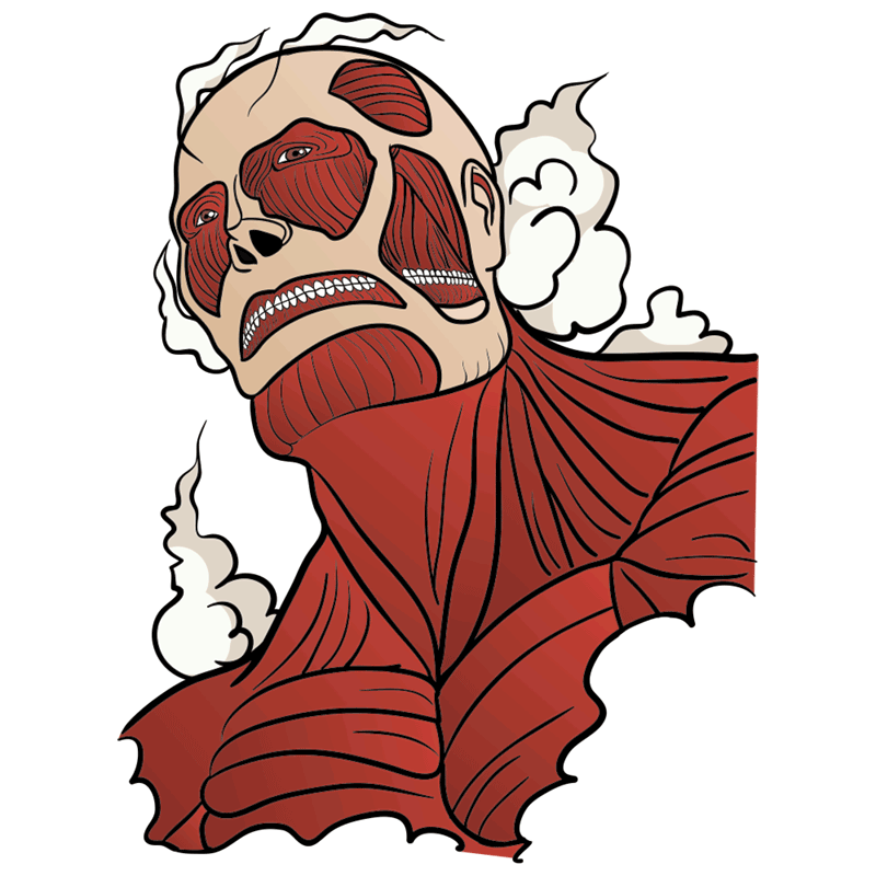 Learn easy to draw colossal titan step 11