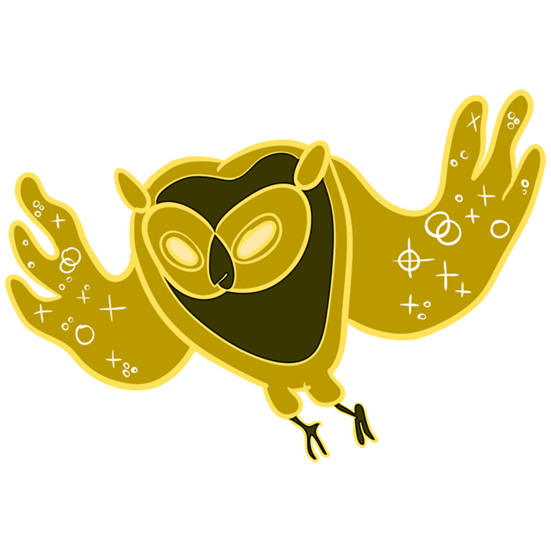 Learn easy to draw cosmic owl step 00