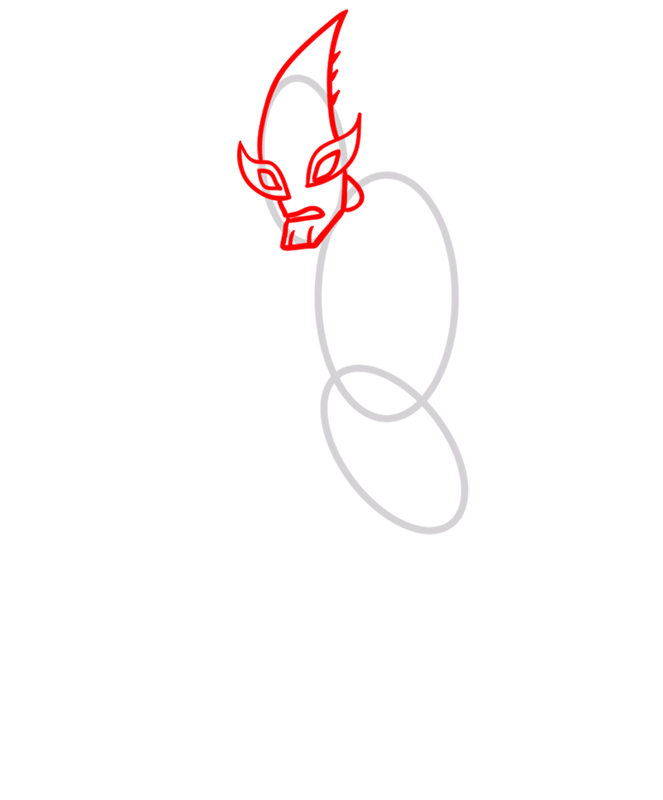 Learn easy to draw crashhopper step 02