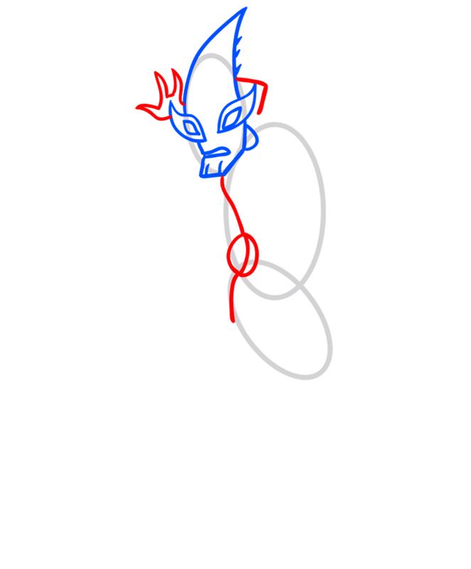 Learn easy to draw crashhopper step 03