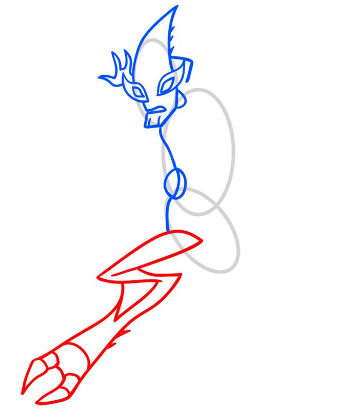 Learn easy to draw crashhopper step 04
