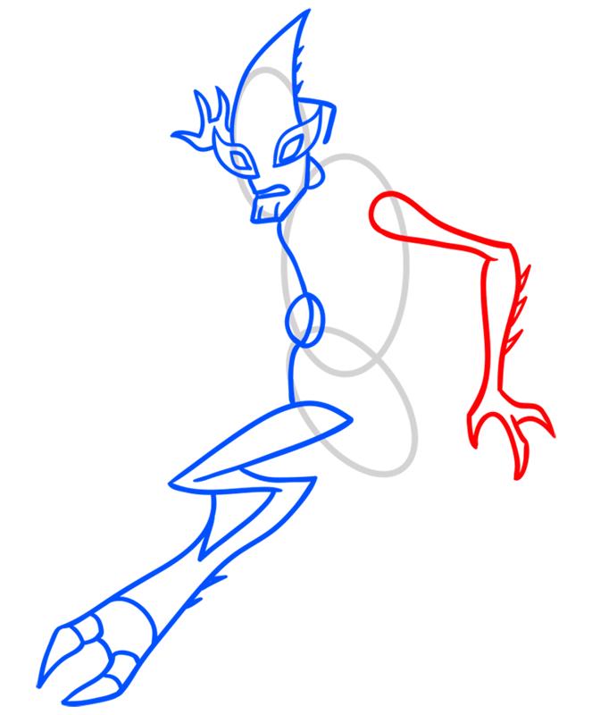 Learn easy to draw crashhopper step 05